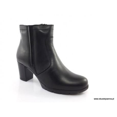 Gładkie botki damskie buty na obcasie suwak+gumka