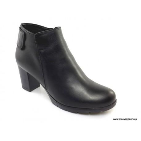 Gładkie botki damskie buty na obcasie suwak