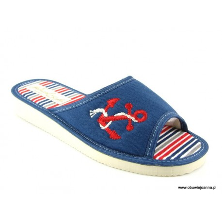 Pantofle damskie kotwica marynarskie Meteor