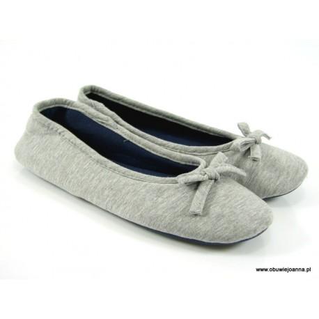 Baleriny pantofle kapcie laczki bawełniane natural