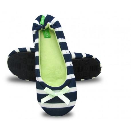 Baleriny pantofle kapcie laczki bawełniane paski