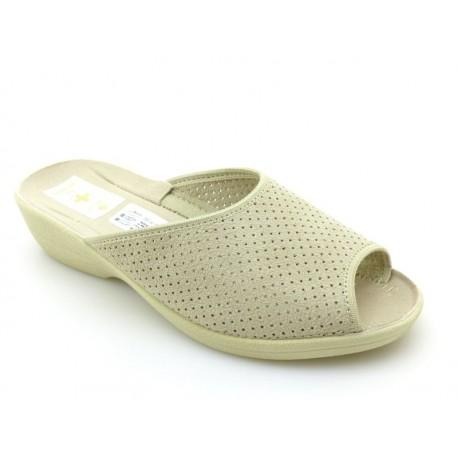 Klapki pantofle damskie profilowane ażurowe