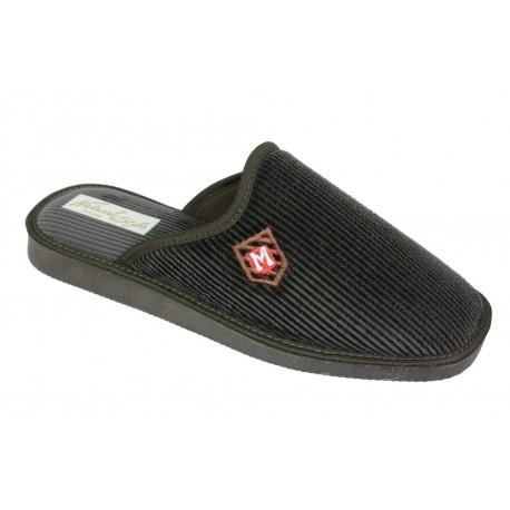 Pantofle kapcie męskie sztruks naturalne